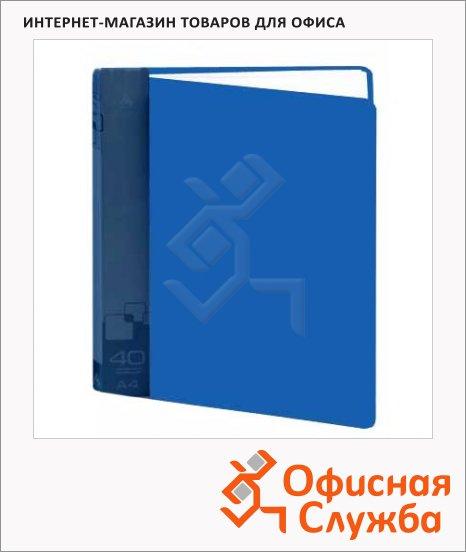 фото: Папка файловая Бюрократ синяя А4, на 40 файлов, BPV40BLUE