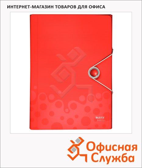 фото: Папка-органайзер Leitz Bebop красная А4, 5 разделов, 45790025