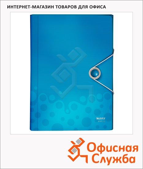 Папка-органайзер Leitz Bebop синяя, А4, 5 разделов, 45790037