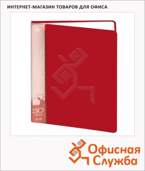 фото: Папка файловая Бюрократ красная А4, на 30 файлов, BPV30RED