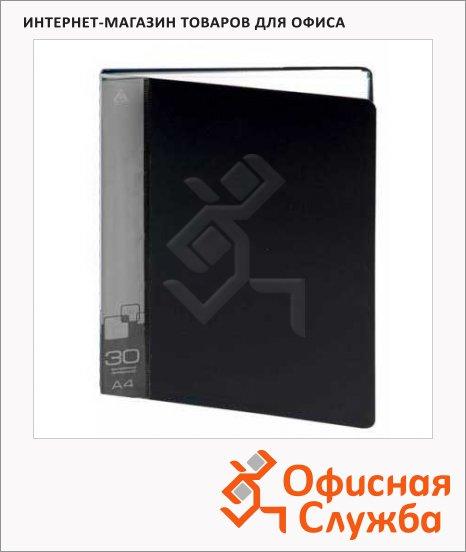 Папка файловая Бюрократ черная, А4, на 30 файлов, BPV30BLCK