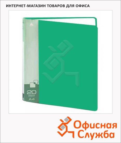 Папка файловая Бюрократ зеленая, на 20 файлов, А4, BPV20GRN