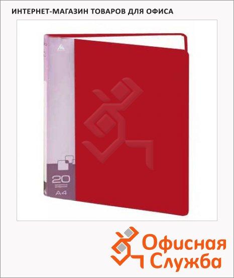 фото: Папка файловая Бюрократ красная на 20 файлов, А4, BPV20RED