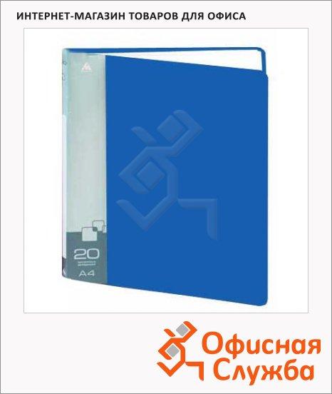 фото: Папка файловая Бюрократ синяя на 20 файлов, А4, BPV20BLUE