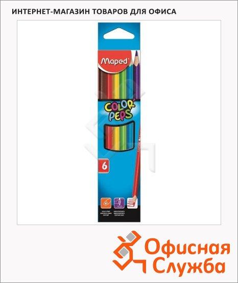фото: Набор цветных карандашей Color'Peps 6 цветов 832002