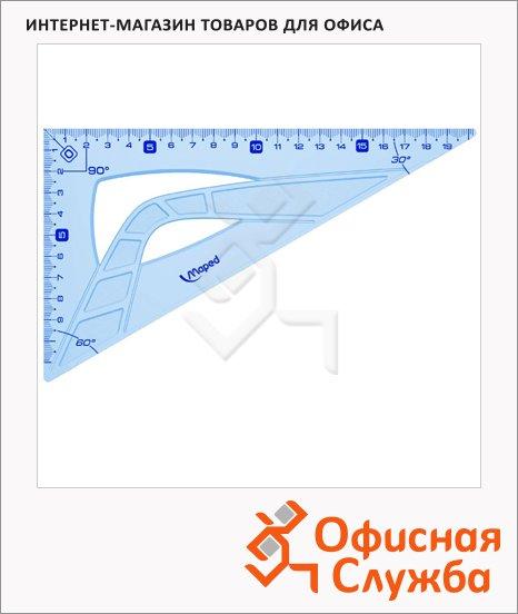 фото: Угольник Maped Geometric 26см 30°/60°, голубой, 242626