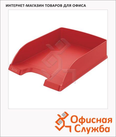 Лоток горизонтальный для бумаг Leitz Plus Standard A4, красный, 52272025