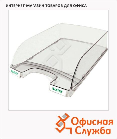 Лоток горизонтальный для бумаг Leitz Plus 357х255x70мм, прозрачный, 52380002
