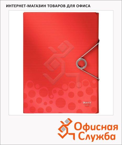 фото: Пластиковая папка на резинке Leitz Bebop красная A4, до 250 листов, 45680025