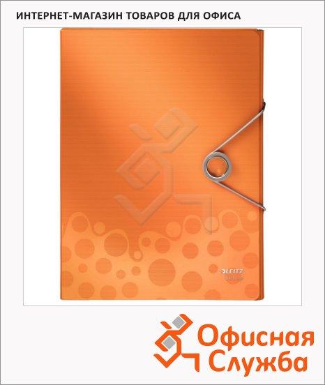 фото: Пластиковая папка на резинке Leitz Bebop оранжевая A4, до 250 листов, 45680045