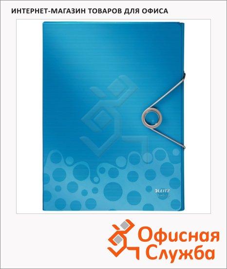 Пластиковая папка на резинке Leitz Bebop синяя, A4, до 250 листов, 45680037