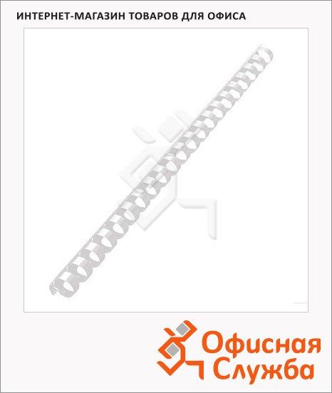 Пружины для переплета пластиковые Office Kit прозрачные, на 90-110 листов, 14мм, 100шт, кольцо, BP2143