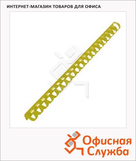 фото: Пружины для переплета пластиковые Office Kit желтые на 120-140 листов, 16мм, 100шт, кольцо, BP2161