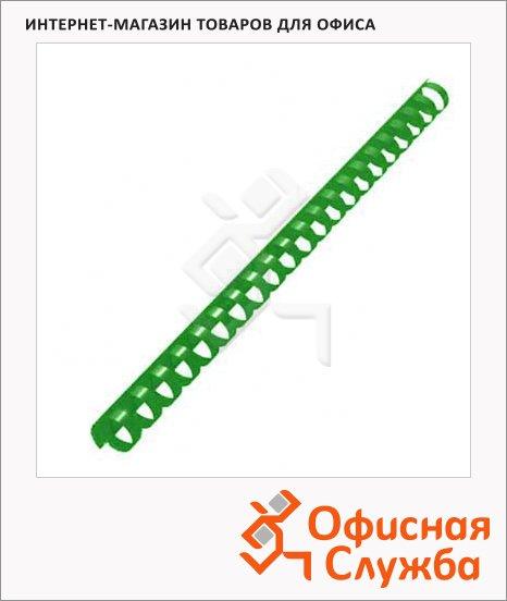 Пружины для переплета пластиковые Office Kit зеленые, на 120-140 листов, 16мм, 100шт, кольцо, 20204730