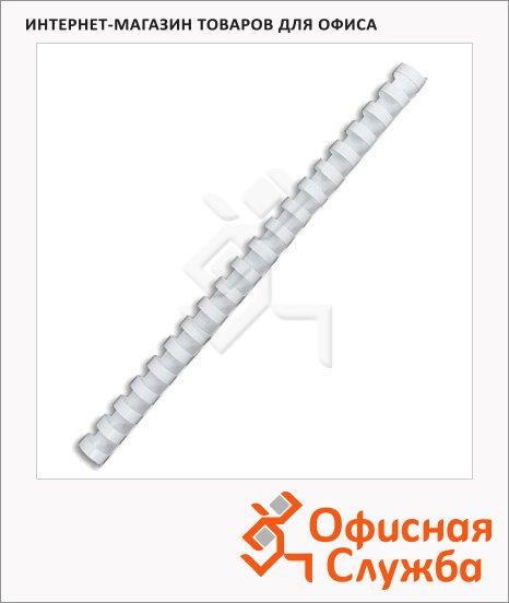 Пружины для переплета пластиковые Office Kit белые, на 120-140 листов, 16мм, 100шт, кольцо, BP2051