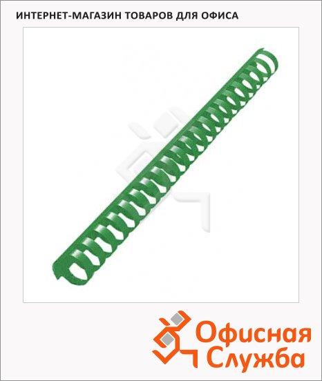 фото: Пружины для переплета пластиковые Office Kit зеленые на 170-210 листов, 22мм, 50шт, кольцо, BP2068