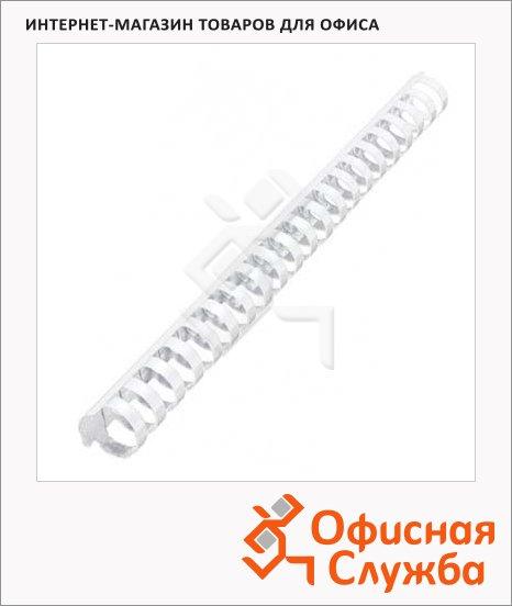 фото: Пружины для переплета пластиковые Office Kit прозрачные на 170-210 листов, 22мм, 50шт, кольцо, BP2146