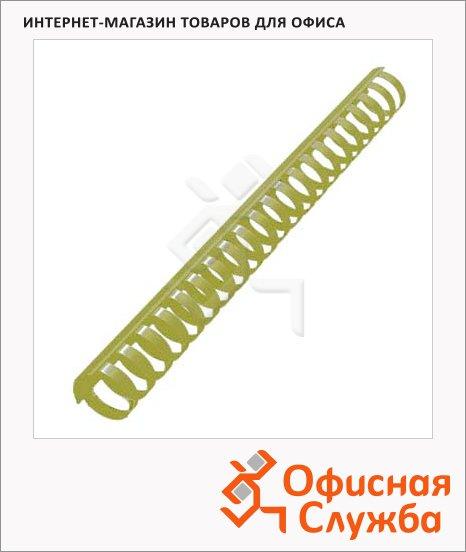 фото: Пружины для переплета пластиковые Office Kit желтые на 210-240 листов, 25мм, 50шт, кольцо, BP2164