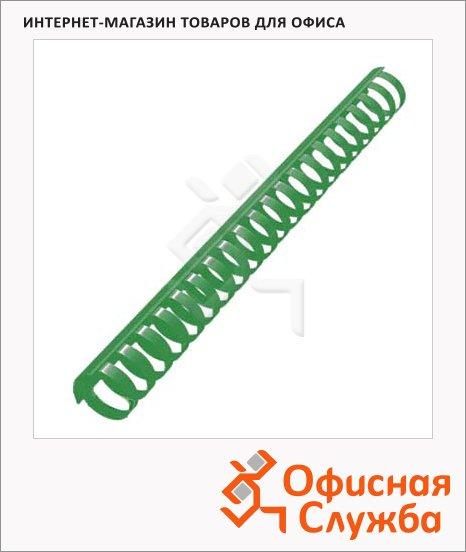 фото: Пружины для переплета пластиковые Office Kit зеленые на 210-240 листов, 25мм, 50шт, кольцо, REX45585