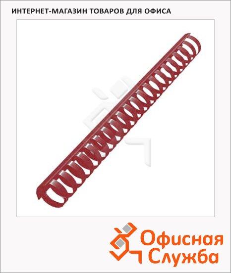Пружины для переплета пластиковые Office Kit красные, на 210-240 листов, 25мм, 50шт, кольцо, 20204738