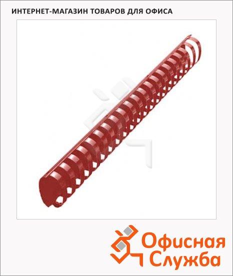 Пружины для переплета пластиковые Office Kit красные, на 300-350 листов, овал, 38мм, 50шт, 20204746-50