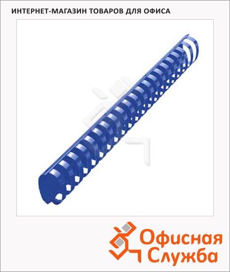 фото: Пружины для переплета пластиковые Office Kit синие на 300-350 листов, овал, 38мм, 50шт, 20204745