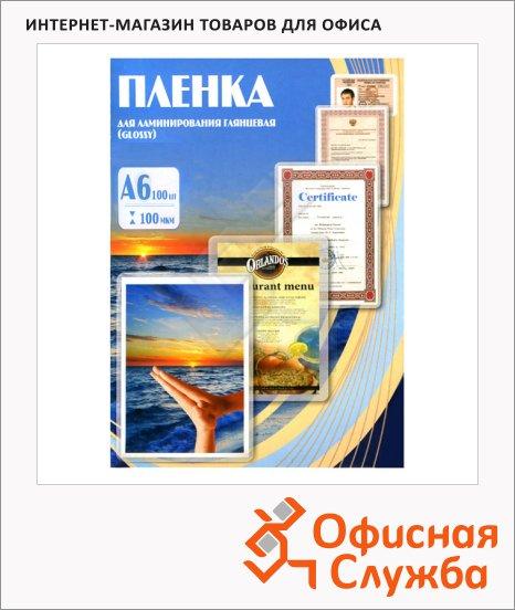 фото: Пленка для ламинирования Office Kit 100мкм 100шт, 111x154мм, глянцевая
