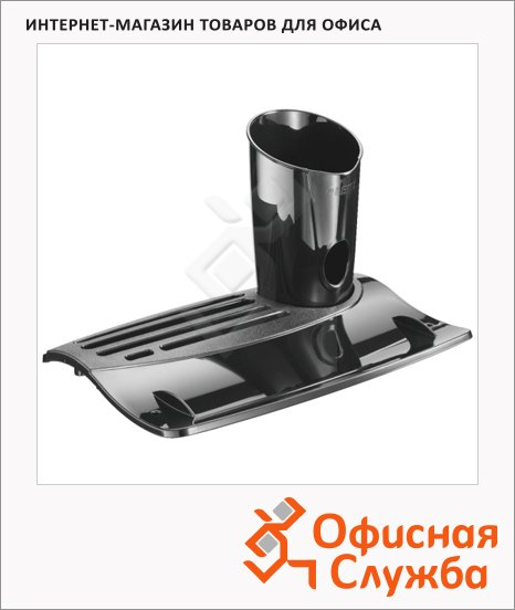 Органайзер настольный Leitz Allura Черная Жемчужина 255x145x180мм, черный, 52020095