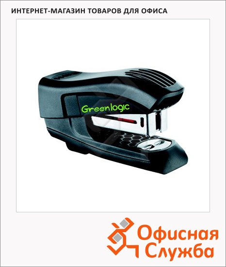 Степлер Maped Greenlogic №24/6, 26/6, до 15 листов, черный, 353011