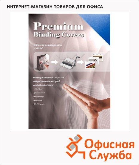 Обложки для переплета картонные Office Kit GWA400250 синие, А4, 250 г/кв.м, 100шт,