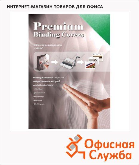 фото: Обложки для переплета картонные Office Kit GWA400250 зеленые А4, 250 г/кв.м, 100шт