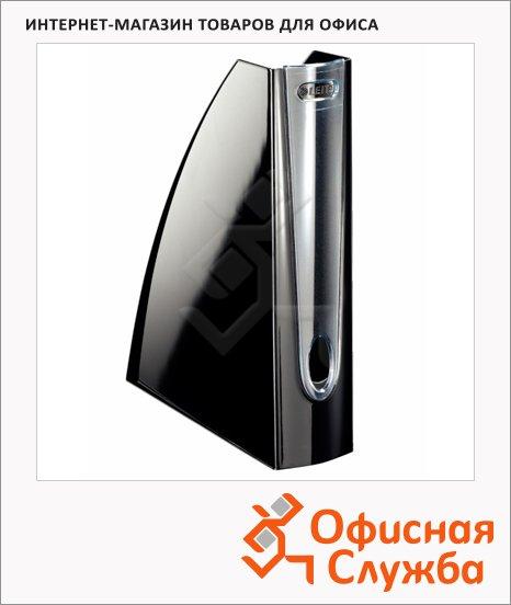 Накопитель вертикальный для бумаг Leitz Allura А4, 75мм, черный, 52010095