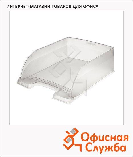 фото: Лоток горизонтальный для бумаг Leitz Plus Jumbo A4 прозрачный, 52330003