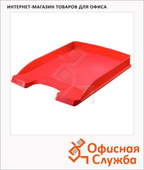 фото: Лоток горизонтальный для бумаг Leitz Plus Slim 357х255x35мм красный, 52370025