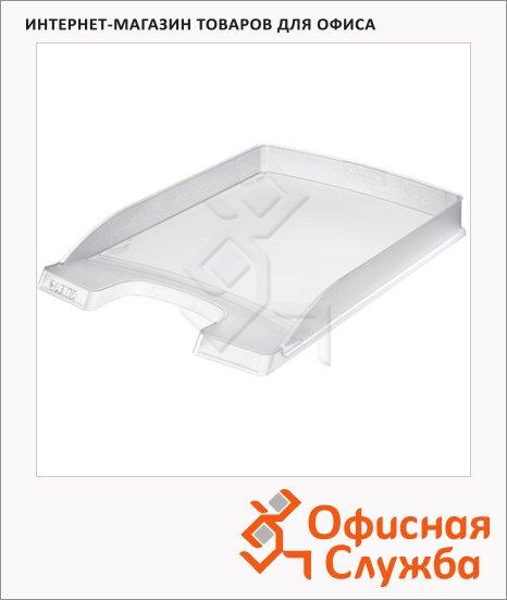 фото: Лоток горизонтальный для бумаг Leitz Plus Slim 357х255x35мм прозрачный, 52370003