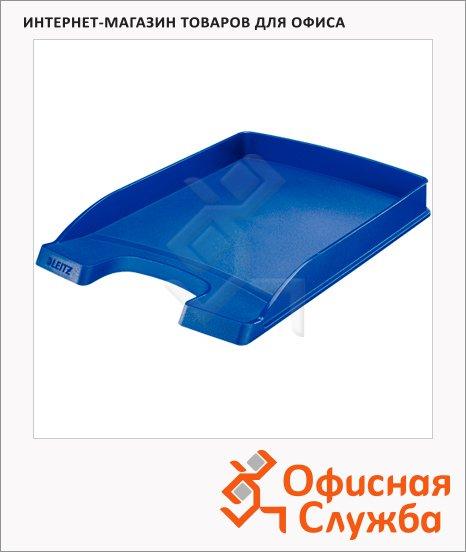 фото: Лоток горизонтальный для бумаг Leitz Plus Slim 357х255x35мм синий, 52370035
