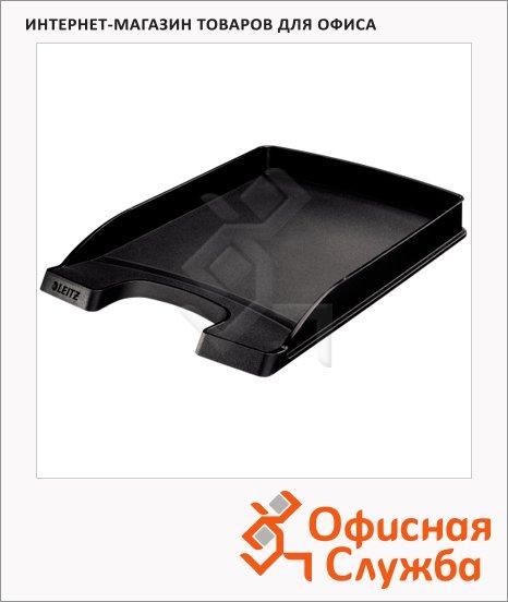 Лоток горизонтальный для бумаг Leitz Plus Slim 357х255x35мм, черный, 52370095