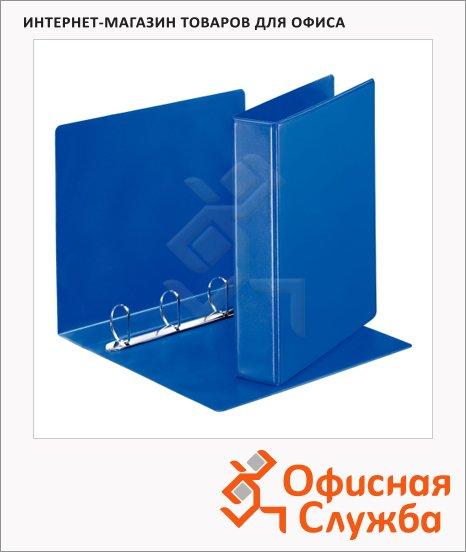 Папка-панорама на 4-х кольцах Esselte синяя, А4, 65 мм, 49762