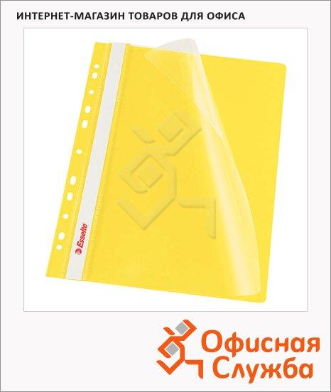 фото: Скоросшиватель с перфорацией Esselte желтый А4, 10 шт/уп, 13584