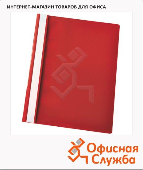 фото: Скоросшиватель пластиковый Esselte красный А4, 5 шт/уп, 28328