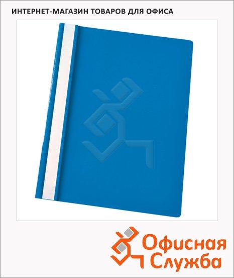 фото: Скоросшиватель пластиковый Esselte голубой А4, 5 шт/уп, 28334