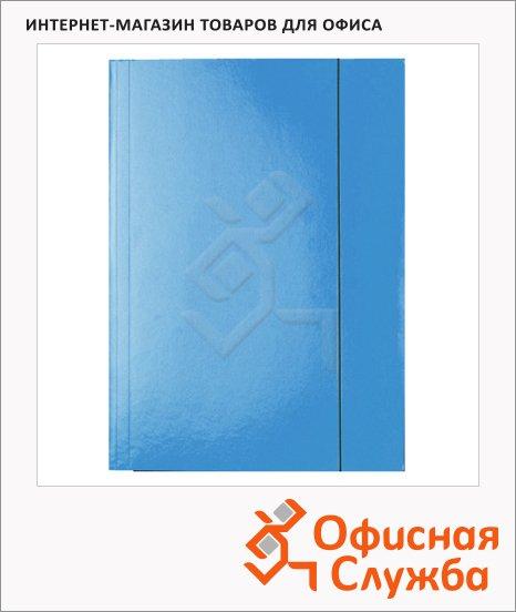 фото: Картонная папка на резинке Esselte голубая А4, до 400 листов, 13435