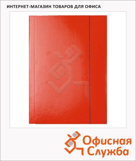 Картонная папка на резинке Esselte красная, А4, до 400 листов, 13436