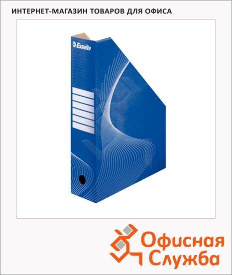 Накопитель вертикальный для бумаг Esselte А4, 80мм, бело-синий, 10025