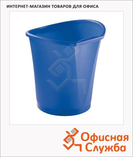 Корзина для бумаг Esselte Intego 15л, синяя, с держателем, 12661