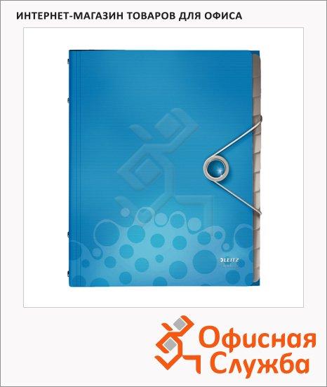 Папка-органайзер Leitz Bebop синяя, А4, 12 разделов, 45700037