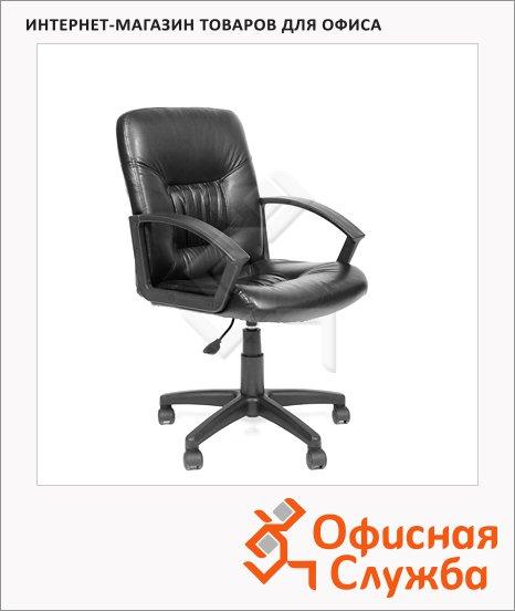 Кресло офисное Chairman 651 иск. кожа, черная, крестовина пластик