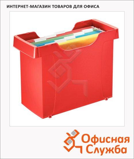 фото: Контейнер для подвесных папок Plus красный А4, А4
