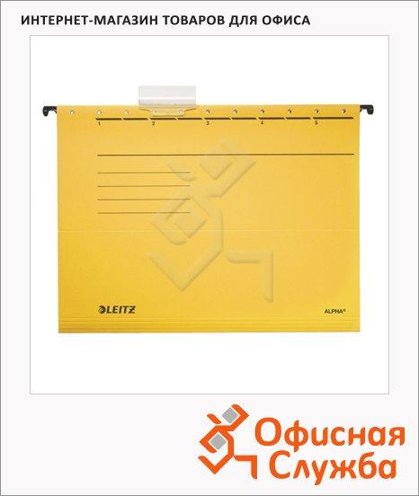 Папка подвесная стандартная А4 Leitz Alpha Стандарт желтая, 19850015