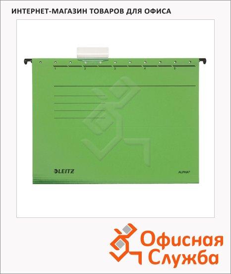 фото: Папка подвесная стандартная А4 Leitz Alpha Стандарт зеленая 19850055